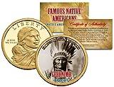 GERONIMO *Famous Native Americans* Sacagawea Dollar Colorized Coin APACHE Indian
