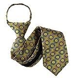 B-U-ZIP-11107 - Gold - Blue - Lavender - Boys 11.50 inch Zipper Tie
