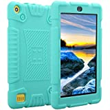 TabPow All-New Fire 7 Tablet (7th Gen, 2017) Light Weight Easy Grip Child-Proof Protective Kids Case Cover For Fire 7 Tablet (7th Gen, 2017) & Fire 7 (5th Gen, 2015) -Mint Blue
