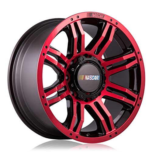 NASCAR N416 Gloss Red Wheel with Milled Rivets/Machine Face/Machine Lip (20 x 9