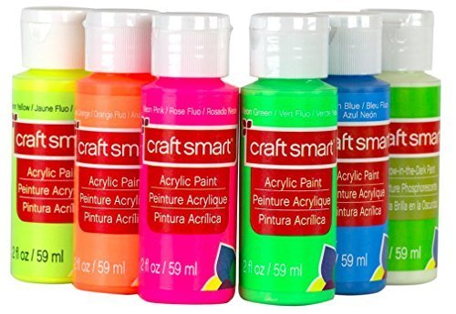 Neon Glow Acrylic Paint Value Set By Craft Smart, Set of 6, Acrylic Value Pack]()