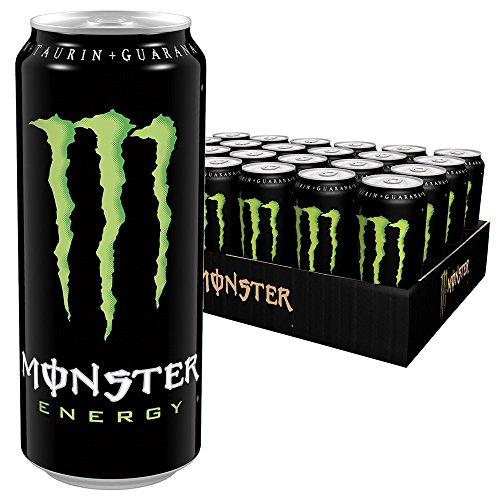 Monster Energy mit klassischem Monster-Geschmack - für gewaltige Energie, Energy Drink Palette, EINWEG Dose (24 x 500 ml)