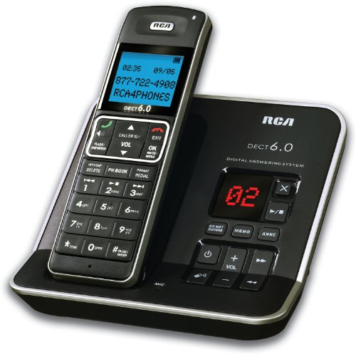 RCA 2112-1BSGA DECT 6.0 Digital Cordless Phone with Caller ID & Digital Answering System (Single-Handset System)