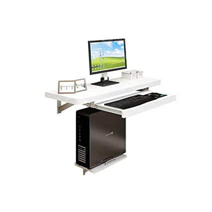 Amazon.com : Folding Table, White Wall Hanging Computer Desk Wall ...