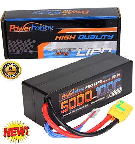 Powerhobby 6s 22.2v 5000mah 100c Lipo Battery w Xt90 Plug Hard Case 6-Cell FITS : Fits : Arrma Kraton Nero Tyhpon Senton Tailon OUTCAST FAZON - Box Kraton
