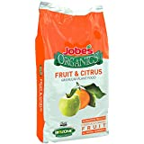 Jobe's Organics (09224) Fruit & Citrus Fertilizer with Biozome, 3-5-5 Organic Fast Acting Granular for All Fruit and Citrus Trees, 16 pound bag