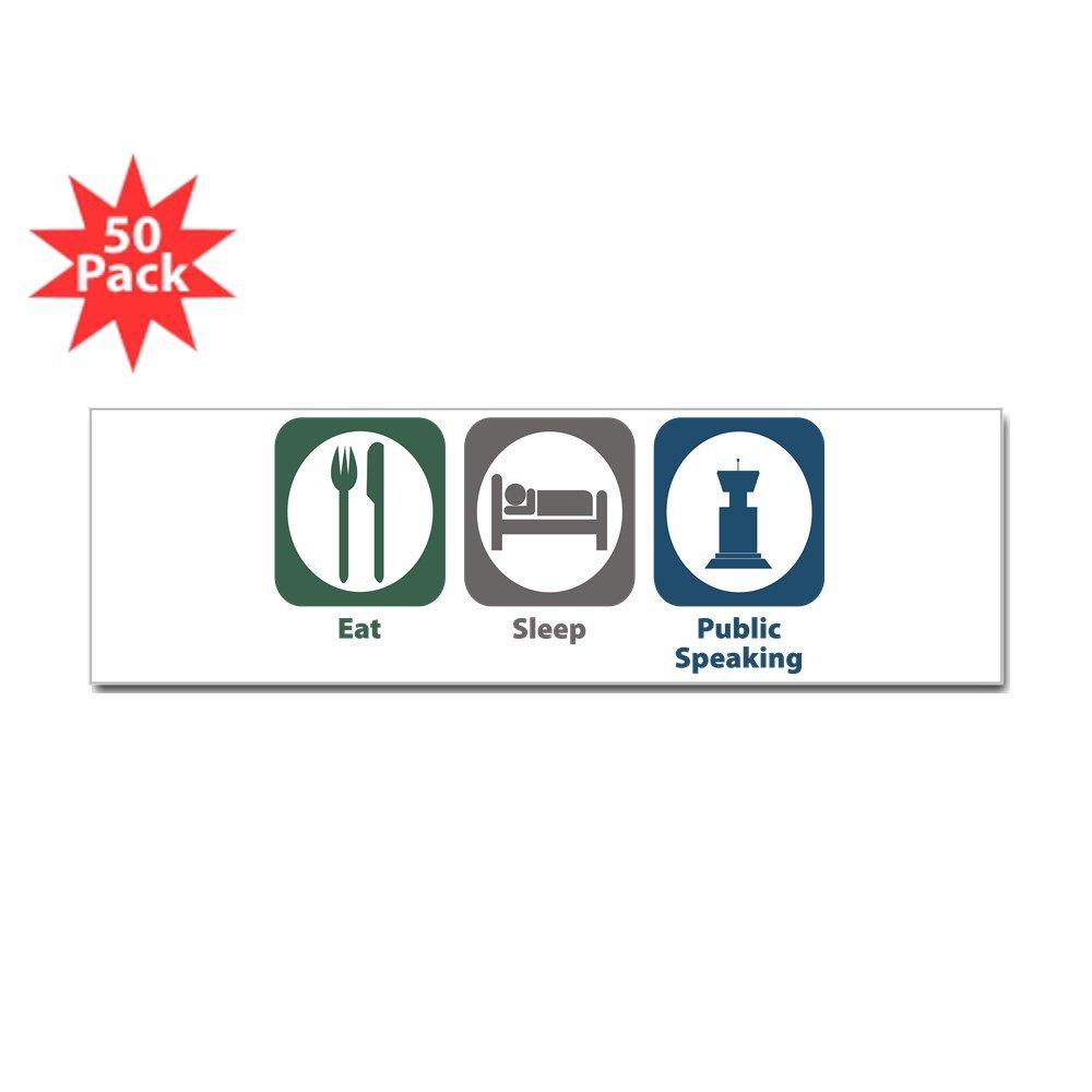 CafePress – Eat SleepパブリックSpeakingバンパーステッカー( 50 pk ) – ステッカー(バンパー50 pk ) 025160639833332 B073WGD2LB  ホワイト