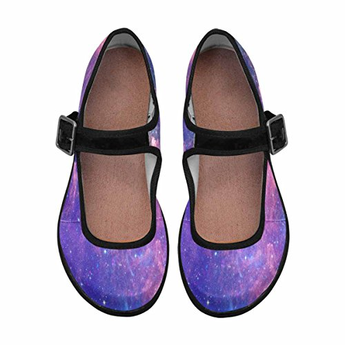 Interestprint Womens Comfort Mary Jane Flats Casual Scarpe Da Passeggio Multi 15
