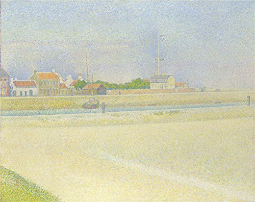 'Georges Seurat The Channel Of Gravelines Grand Fort Philippe ' Oil Painting, 10 X 13 Inch / 25 X 32 Cm ,printed On High Quality Polyster Canvas ,this Beautiful Art (Channel 4 News Halloween)