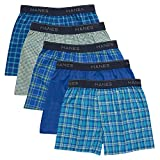 Hanes Boys' Boxer 5 Pack, Tartan, Medium
