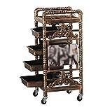 Beauty Salon Tool Cart Barber Shop Dyeing Trolley Hair Salon Retro Multi-function Shelf
