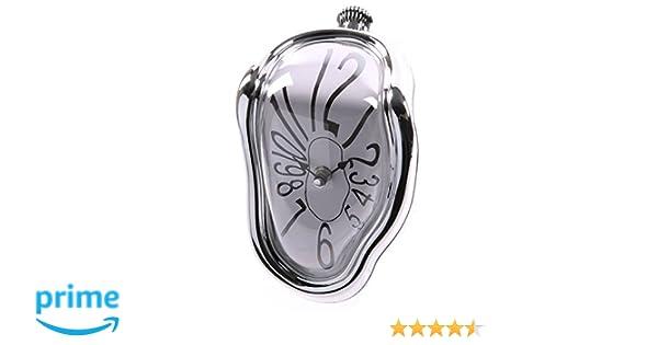 PUCKATOR CLCK14 - Reloj derretido de plástico - Color plateado: Amazon.es: Hogar
