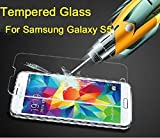 eTECH Collection 3 piece of Premium Tempered Glass Screen Protector for Samsung Galaxy S5 / S V /i9700 (0.3mm) 9H Hardness / Scratch Proof / Bubble Free / Oleophobic Coating / Transparent Crystal Clear - Free Shipping From USA