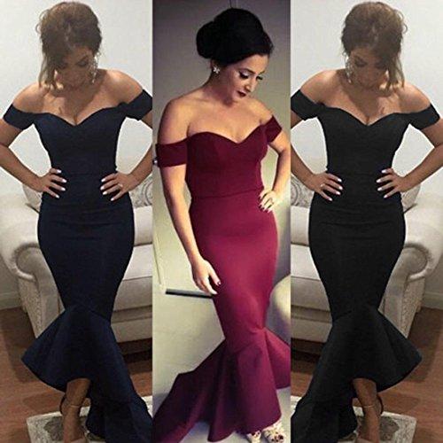 e78bb4752655 ... Upxiang Frauen formales Abend Partei Kleid Sexy weg von der Schulter  Nixe langen Kleid Kleid Hochzeits ...