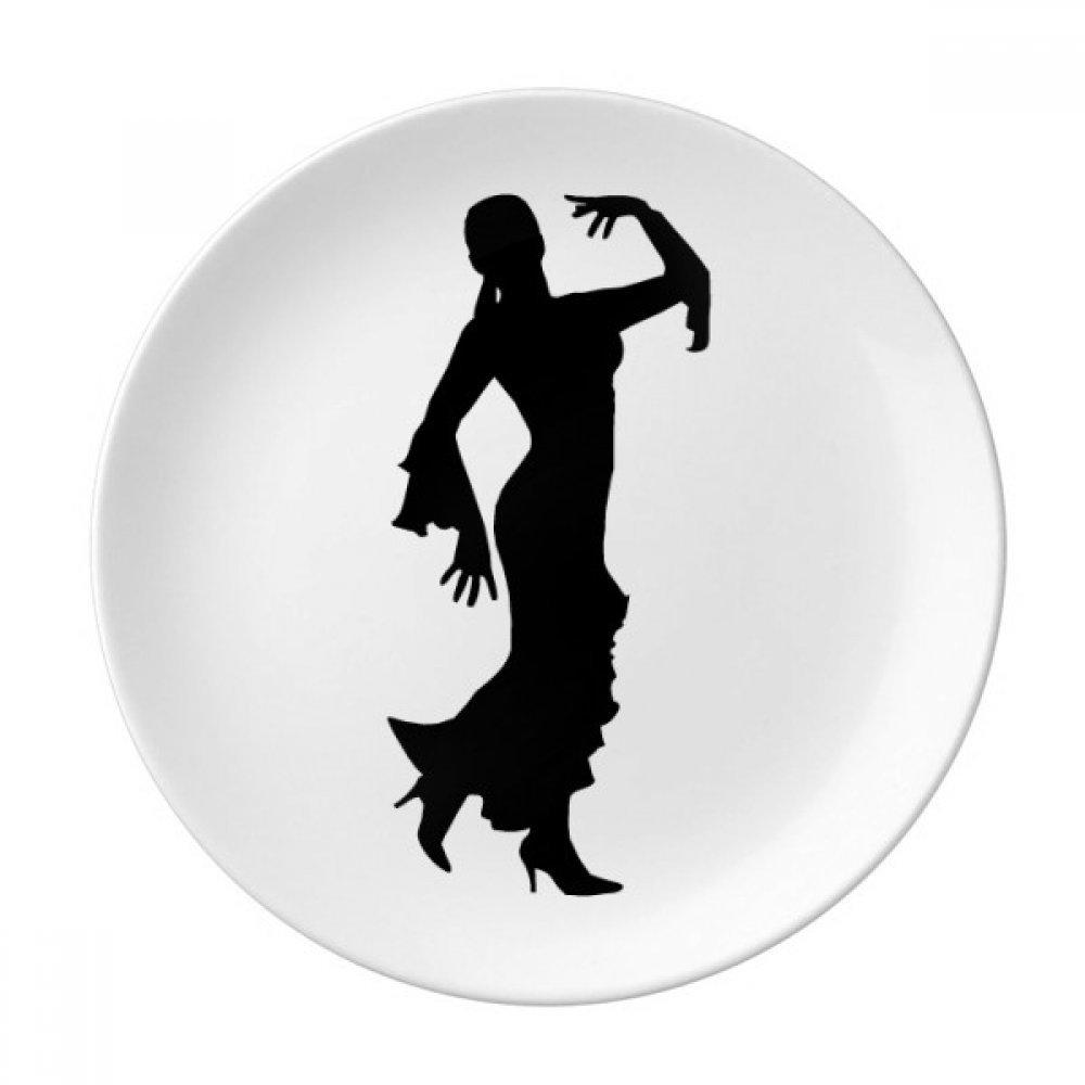 Folk Dance Art Performance Dancer Dessert Plate Decorative Porcelain 8 inch Dinner Home