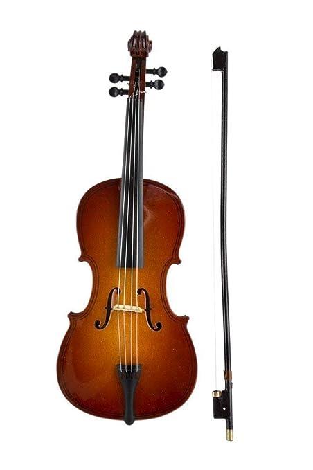 Cello W Caso Soporte Caja De Musica Instrumento Musical