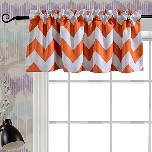 Melodieux Melodieux Chevron Room Darkening Rod Pocket Window Curtain Valance For Living Room 52