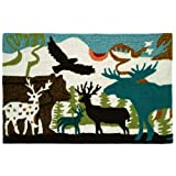Homefires Accents Forest Dwellers 22-Inch by 34-Inch Indoor Rug