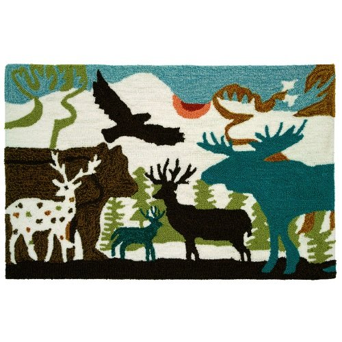 - Homefires Accents Forest Dwellers 22-Inch by 34-Inch Indoor Rug