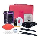 NAGARAKU NEW Eyelashes Extension Kit for Starter,Fashionable Eyelashes Extension Set with Glue,Eye Pad, Tape Eyelahes Brusth