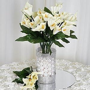 BalsaCircle 84 Silk Calla Lilies - 12 Bushes - Artificial Flowers Wedding Party Centerpieces Arrangements Bouquets Supplies 66