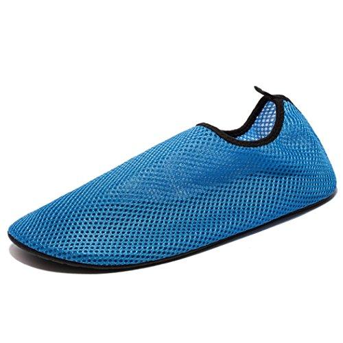 [Kensbuy Unisex Mesh Wet Sea Skin Slip-on Sock,Yoga,Gym,Excersise,Outdoor,Beach Aqua shoe EU37 Blue] (Aqua Sea Pump)