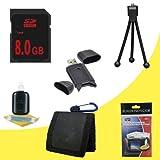 8 GB Class 10 SDHC Flash Memory Card + USB Reader + Bonus Starter Kit for Canon EOS Rebel T3 Digital SLR Camera DavisMAX Accessory Bundle