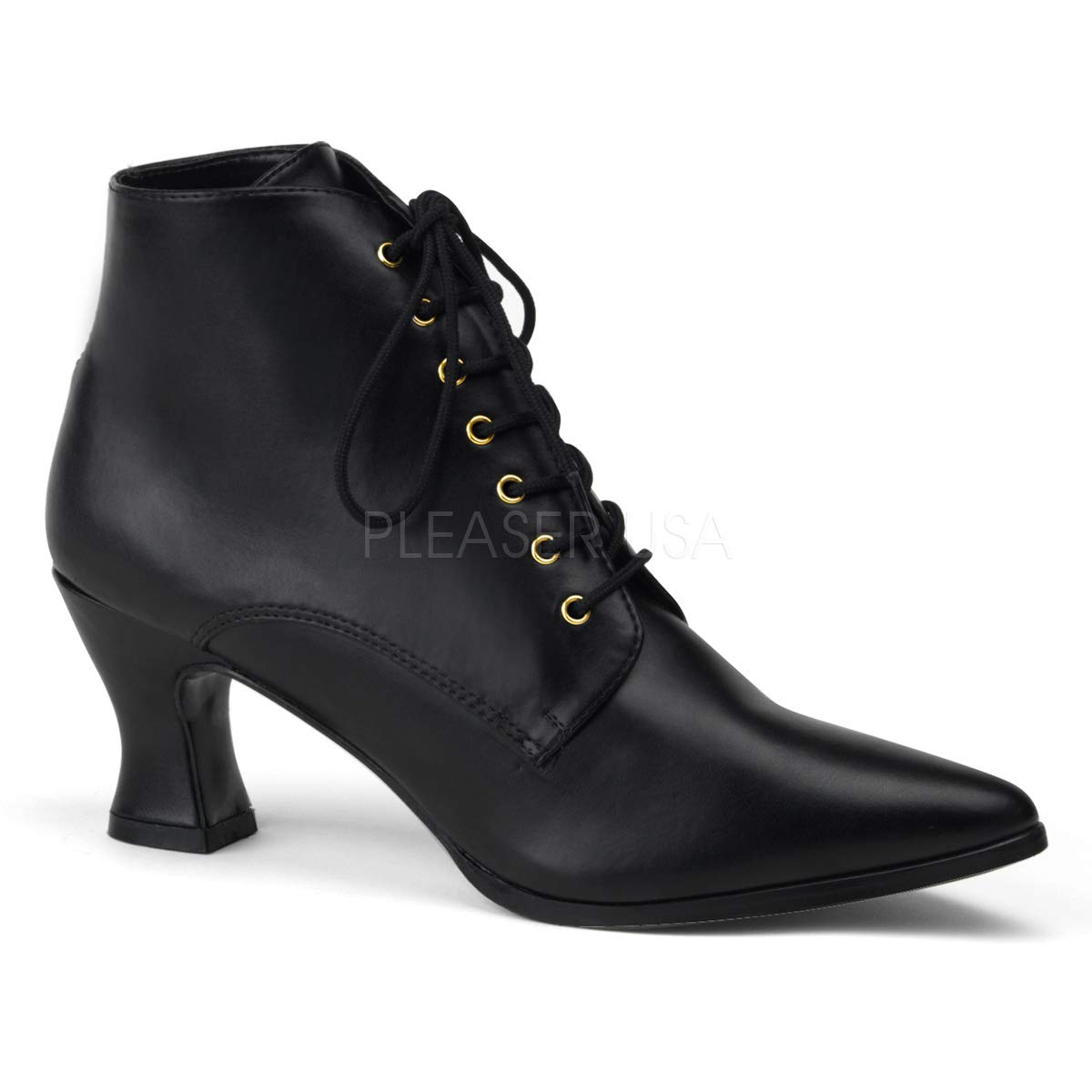 Funtasma by Pleaser Women's Victorian-35 Victorian Ankle Boot,Black,8 M US