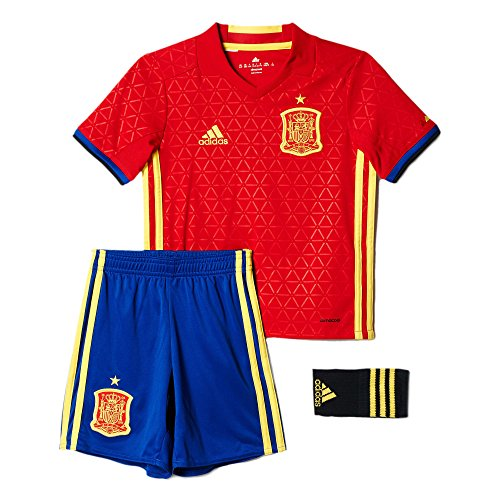 Adidas Mini Mesh Shorts - Adidas Spain Home Soccer Mini Kit Set UEFA Euro 2016 (L)