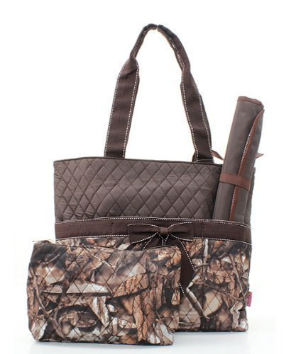 Marvel Luxury Series - Quilted BNB Natural Camo 3pc Diaper Bag Set