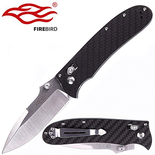 Knife F7041-CF Firebird Pocket Folding Hunting Knife Carbon Fiber Handle SS Blade