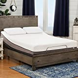 Sleep Zone Huntington 10-inch Queen-Size Memory Foam Mattress Adjustable Bed Set For Sale