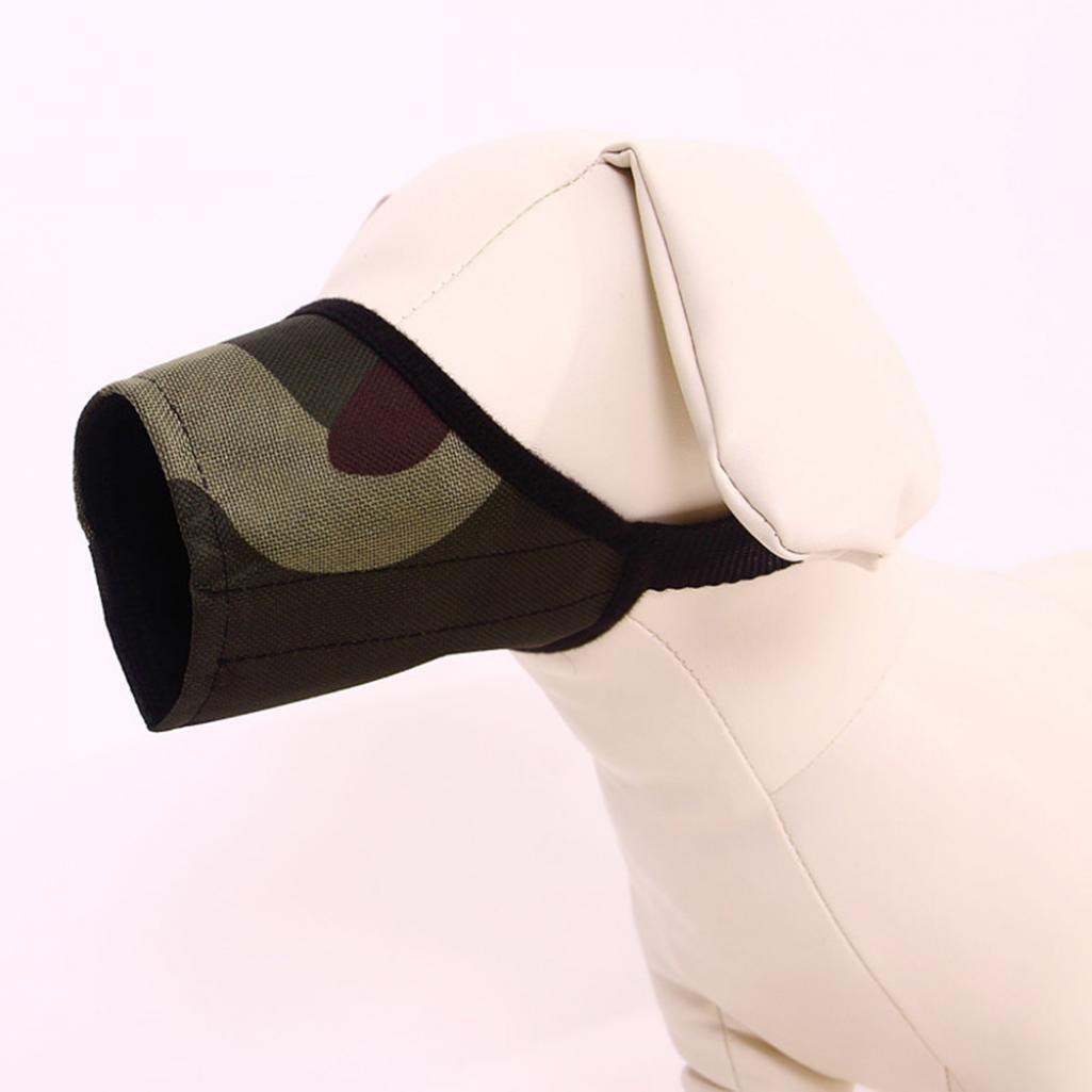 Hearsbeauty regolabile Pet Puppy bocca maschera di sicurezza anti mordere abbaiare morbido Museruola