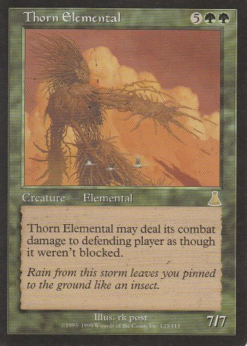 Urzas Destiny Magic Card - Thorn Elemental (Magic the Gathering : Urza's Destiny #123 Rare)