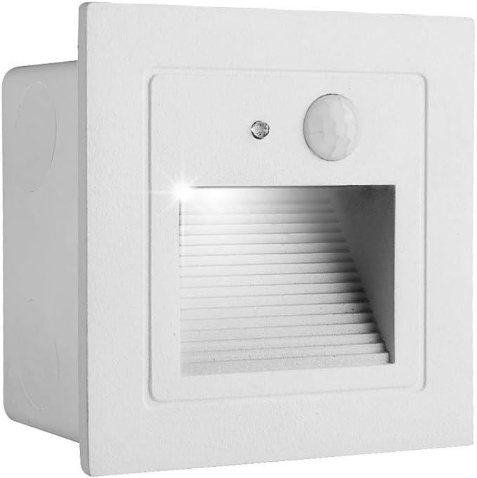 INHDBOX Motion Sensor LED Stair Light, Indoor Outdoor Step Light,AC85-240V 2.5W 240lm Stairway Night Lighting