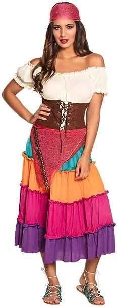Desconocido Disfraz de zíngara: Amazon.es: Juguetes y juegos
