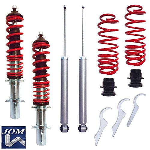 JOM Euro Height Adjustable Coilover Suspension Lowering Kit For VW Jetta Golf MK4 New Beetle - Adjustable 20-100mm / ()