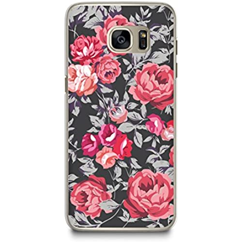 Case for Samsung S7, CasesByLorraine Vintage Floral Red Rose Pattern Case Plastic Hard Cover for Samsung Galaxy S7 (N53-2) Sales