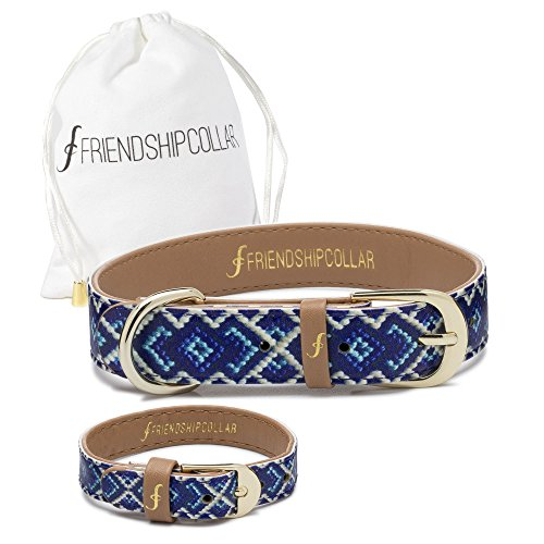 FriendshipCollar Dog Collar and Friendship Bracelet - The Mucky Pup - Medium