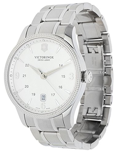 Victorinox Swiss Army Alliance Men's Silver Dial Stainless Steel Swiss Watch - With Knife 241712.1 -
