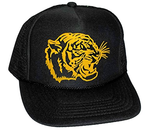 Kids Black Tiger Face Snapback Mesh Trucker Hat Cap Toddler