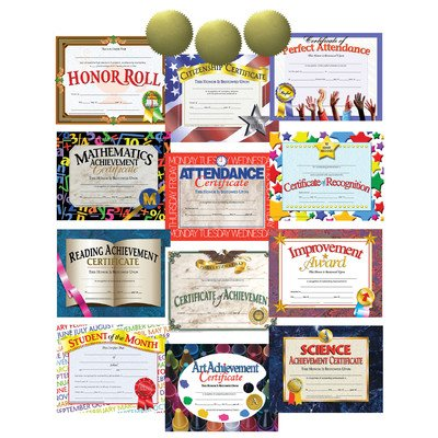 Hayes Best Seller Certificate and Award Student Incentive Pack (Reading Certificate Achievement)