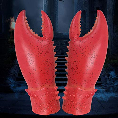 DecorFav Party Scorpion Gloves Elastic Latex Horror Creepy Props Animal Hands for Carnival Costume Parties Masquerade Halloween -