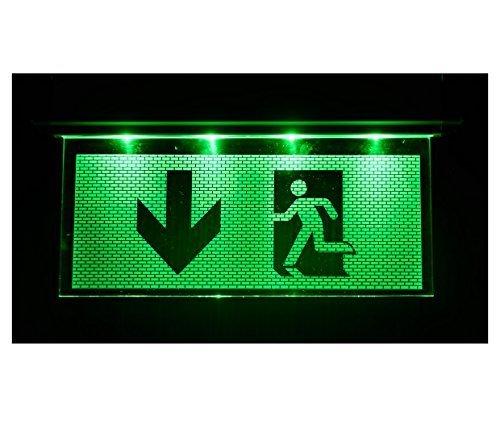 Notleuchte Notbeleuchtung Exit Notausgang Fluchtwegleuchte Notlicht Fluchtweg mit Pfeil nach UNTEN