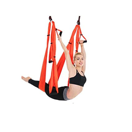 Amazon.com: XIAOLI& Anti-gravity aerial yoga hammock indoor ...