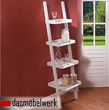 Escalera de estantería de colour blanco con diseño de 166 x 43,5 ...