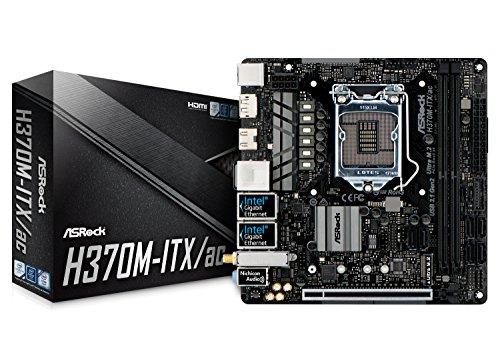 ASRock H370M-ITX/AC LGA1151/Intel H370/DDR4/SATA3&USB3.1/M.2/Wi-Fi/A&2GbE/Mini-ITX Motherboard