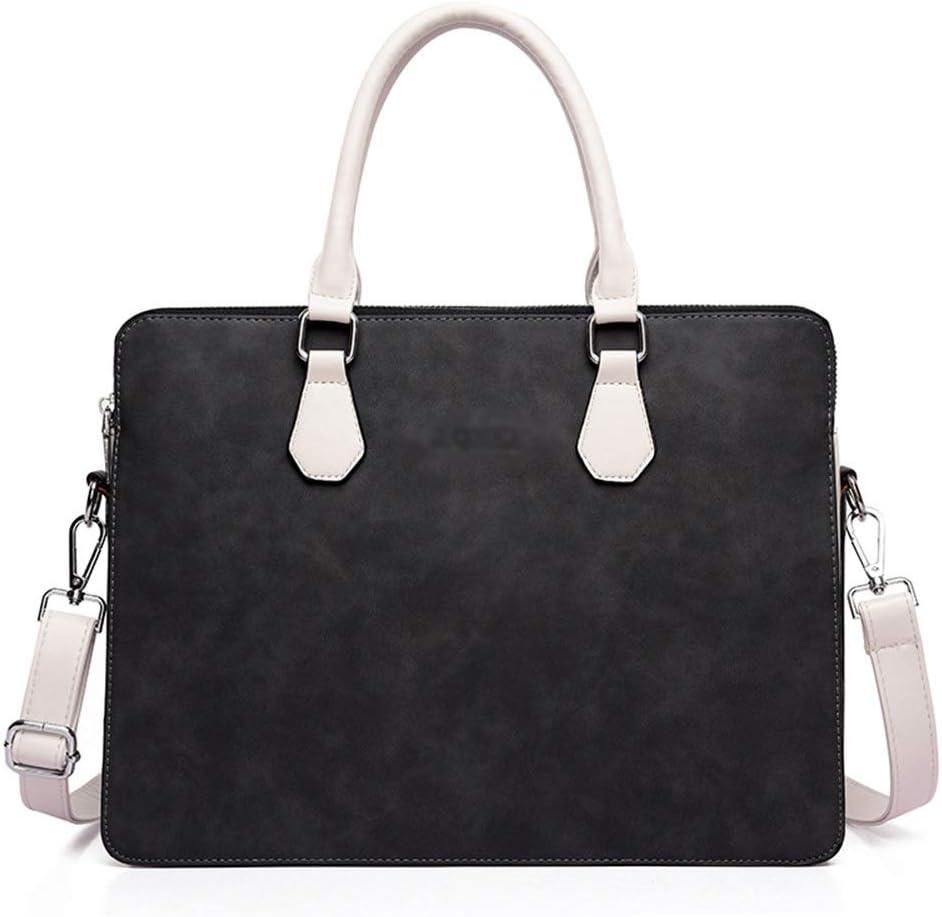 Color : Pink, Size : 13.3inch Lorachun Business Briefcase Laptop Bag Men and Women Shoulder Double Zipper 13.3//14//15.6 Inch Pink//Gray//Black