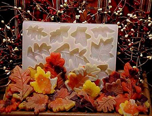 Fall Leaf Embeds 10 Cavity Silicone Mold 2230 (Candle Embed)