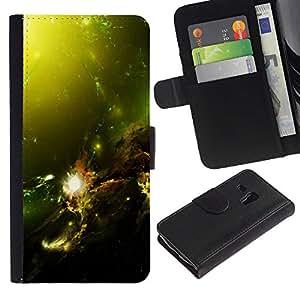 UNIQCASE - Samsung Galaxy S3 MINI NOT REGULAR! I8190 I8190N - Green Space Galaxy - Cuero PU Delgado caso cubierta Shell Armor Funda Case Cover
